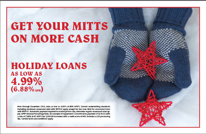 GET YOUR MITTENS ON MORE CASH WITH A HOLIDAY LOAN
